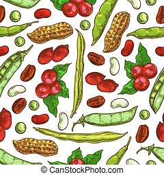 μικροβιοφορέας , πρότυπο , seamless, καρύδια , απόγονοι ,...