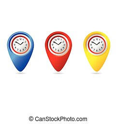 μικροβιοφορέας , ρολόι , εικόνα , εικόνα