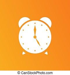 μικροβιοφορέας , ρολόι , eps , εικόνα , εικόνα , φόντο , κίτρινο , 10.