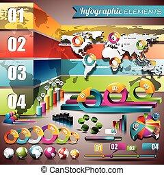 μικροβιοφορέας , σχεδιάζω , θέτω , από , infographic, elements., ανθρώπινη ζωή και πείρα αντιστοιχίζω , και , πληροφορία , graphics., eps , 10 , εικόνα