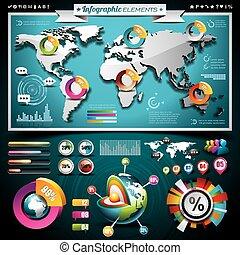 μικροβιοφορέας , σχεδιάζω , θέτω , από , infographic, elements., ανθρώπινη ζωή και πείρα αντιστοιχίζω , και , πληροφορία , graphics , επάνω , κινητός , τηλέφωνο. , eps , 10 , εικόνα