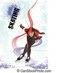 μικροβιοφορέας , ταχύτητα , εικόνα , skating.