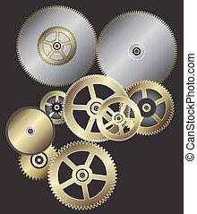 μικροβιοφορέας , ταχύτητες , φόντο , ρολόι