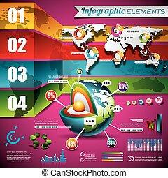 μικροβιοφορέας , τεχνολογία , σχεδιάζω , θέτω , από , infographic, elements., ανθρώπινη ζωή και πείρα αντιστοιχίζω , και , πληροφορία , graphics., eps , 10 , illustration.