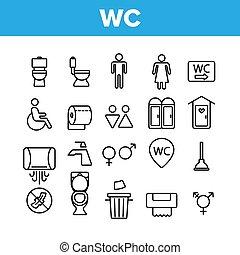 μικροβιοφορέας , τουαλέτα , τουαλέτα , wc , απεικόνιση , δημόσιο , θέτω , γραμμικός