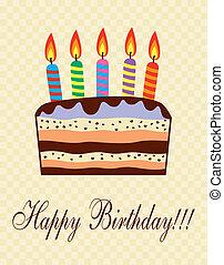 μικροβιοφορέας , τούρτα γενεθλίων , με , κερί