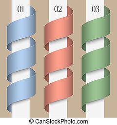 μικροβιοφορέας , τρία , ribbons-banners, αριθμητική
