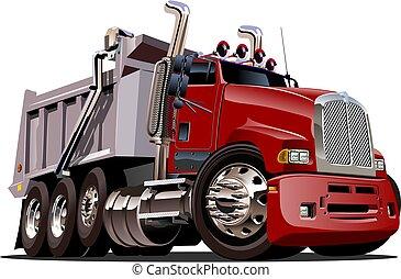 μικροβιοφορέας , φορτηγό , γελοιογραφία , σκουπιδότοπος