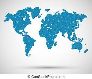 μικροβιοφορέας , χάρτηs , αφαιρώ , circles., κόσμοs