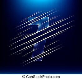μικροβιοφορέας , χαρακτήρας , βοηθώ ανεξίτηλο , γυαλί , αριθμόs , αφαιρώ , θέτω , μπλε , χρώμα , eps10, πολυτέλεια , εικόνα , 7 , επτά , φόντο.