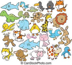 μικροβιοφορέας , χαριτωμένος , στοιχεία , σχεδιάζω , ζώο