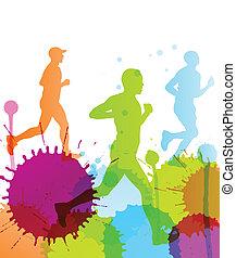 μικροβιοφορέας , χρώμα , αφαιρώ , βουτιά , φόντο , δρομέας