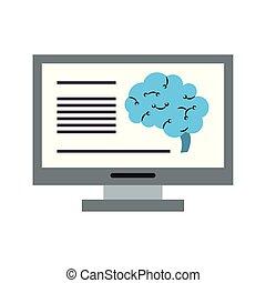 μικροβιοφορέας , analizing, είδηση , τεχνητό , εγκέφαλοs ,...