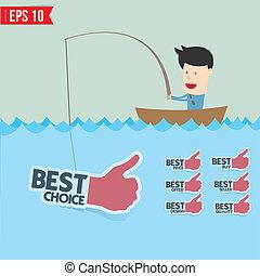 μικροβιοφορέας , eps10, - , εικόνα , ελκυστικός , θάλασσα , επιχειρηματίας , ετικέτα , γελοιογραφία , καλύτερος