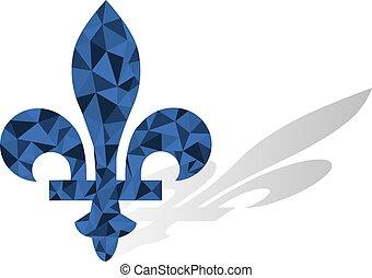 μικροβιοφορέας , fleur , lys, καναδάs , επαρχία , de , quebec , έμβλημα , σύμβολο