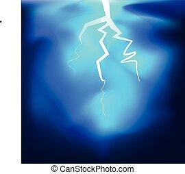 μικροβιοφορέας , illustrati , φωτισμός , κεραυνός