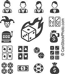 μικροβιοφορέας , illustrations., icons., καζίνο