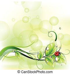 μικροβιοφορέας , ladybirth., φόντο , αμαυρώ