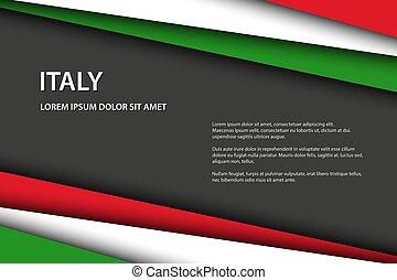 μικροβιοφορέας , overlayed, σημαία , κοιτάζω , διάστημα , ιταλία , μοντέρνος , γκρί , ελεύθερος , φόντο , μπογιά , χαρτί , έλασμα , εδάφιο , γινώμενος , δικό σου , ιταλίδα