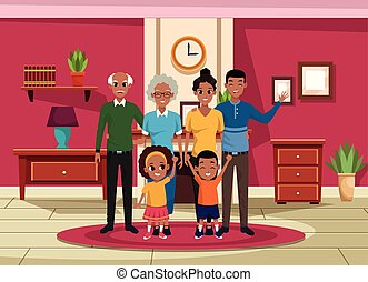 μικρόκοσμος , γονείς , παππούς και γιαγιά , οικογένεια , γελοιογραφία