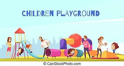 μικρόκοσμος , παιδική χαρά , οικογένεια , έκθεση
