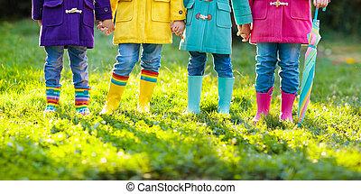 μικρόκοσμος , boots., βροχή , είδη υπόδησης , children.