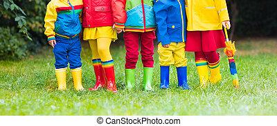 μικρόκοσμος , boots., βροχή , καουτσούκ αρβύλα , children.