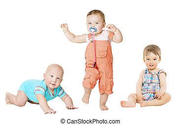 μικρός , ανάπτυξη , 1 , δραστήριος , πορτραίτο , 6 , παιδιά , μήνες , μικρόκοσμος