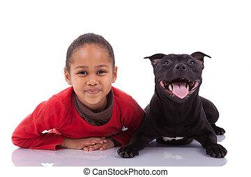μικρός , αυτήν , κατοικίδιο ζώο , αμερικανός , αφρικανός , κορίτσι