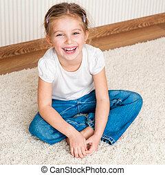 μικρός , βαρύνω δεσποινάριο , πάτωμα