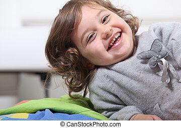 μικρός , γέλιο , κορίτσι