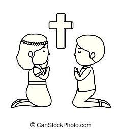 μικρός , μικρόκοσμος , σταυρός , επαφή , γονυκλία , πρώτα