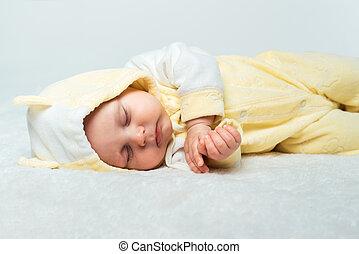 μικρός , μωρό , κοιμάται , χαλί