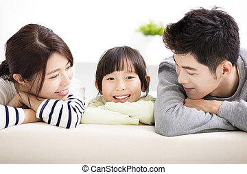 μικρός , οικογένεια , νέος , ελκυστικός , κορίτσι , ευτυχισμένος