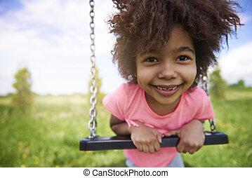 μικρός , παιδική χαρά , κορίτσι