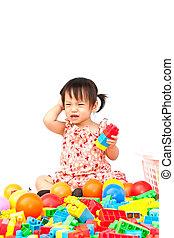 μικρός , παιχνίδι , κορίτσι , παίξιμο
