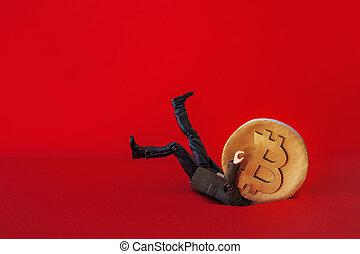 μικρός , investor., μεγάλος , bitcoin, δολοφονία , αποθαρρύνω , επινοώ , πέφτω , επιχειρηματίας , πρόβλημα , cryptocurrency., άντραs