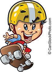 μικρός , skateboard , άντρας , δροσερός