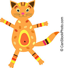 μικρός , (vector, version), γάτα