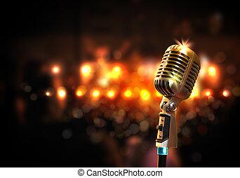 μικρόφωνο , ήχοs , ρυθμός , retro