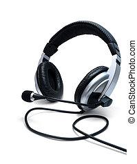 μικρόφωνο , ακουστικά