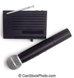 μικρόφωνο , κεραία , ασύρματος , θέση , ραδιόφωνο , αποδέκτης