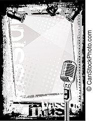μικρόφωνο , φόντο