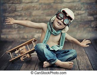μικρό , αγόρι , παίξιμο