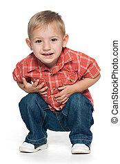 μικρό , αγόρι , πορτραίτο , χαριτωμένος