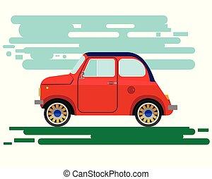 μικρό , αντίκα άμαξα αυτοκίνητο