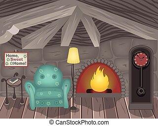μικρό , εσωτερικός , δωμάτιο