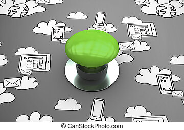 μικτός , πράσινο , digitally , σπρώχνω , γεννώ , κουμπί , εικόνα