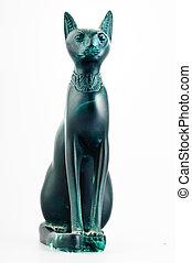μινιατούρα , αιγύπτιος , bastet, άγαλμα , γάτα