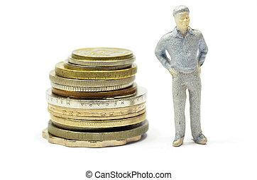 μινιατούρα , κέρματα , άνθρωποι